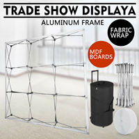 8 x 8ft  Tension Tecido Backdrop Estande Quadro Reta Pop Up Display Stand