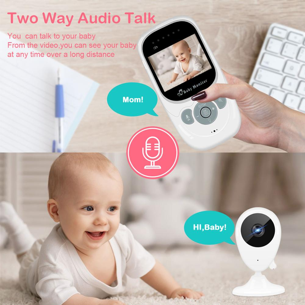 Image 5 - 2.5 inch Wireless Baby Monitor Video Color Baby Nanny Security Camera Night Vision Temperature Music LCD Monitor Baby Camera-in Baby Monitors from Security & Protection