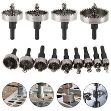 13PCS HSS Drill Bit Set High Speed Steel Carbide Tip Hole Saw Tooth Cutter Metal Drilling Hand Woodwork Cutting Carpentry Crowns