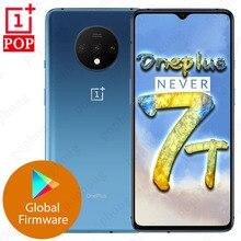 الهاتف المحمول العالمي Oneplus 7T 6.55 بوصة Snapdragon 855 Plus ثماني النواة أندرويد 10 في الشاشة إفتح كاميرات 48MP