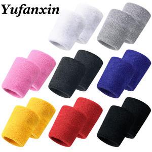 Wrist-Guard Basketball Wipe-Sweat Badminton Knitted-Towel Tennis Fitness Sports 1pc