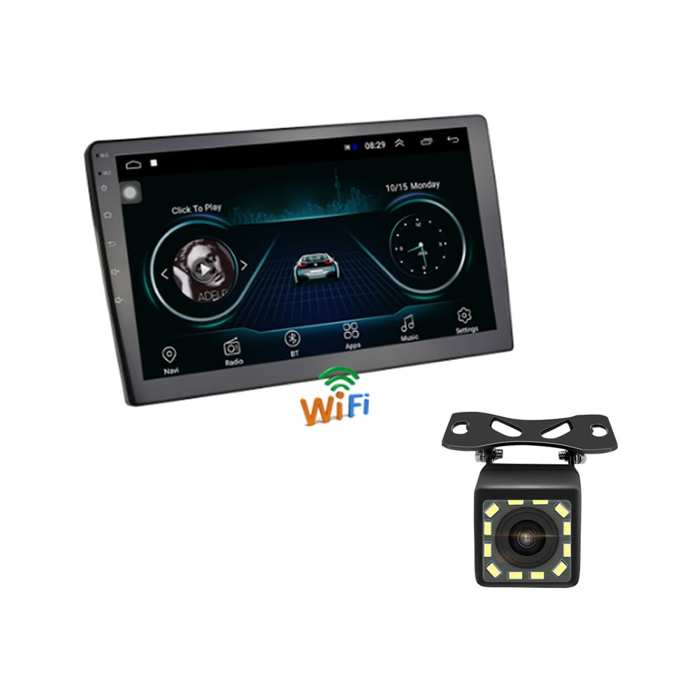 10.1 pouce 2 Din Android 8.1 Autoradio stéréo GPS Navigation Bluetooth USB SD tactile voiture lecteur multimédia lecteur Audio Autoradio