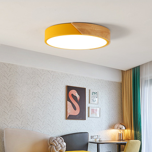 Image 4 - 5 センチメートル超薄型ledシーリングライトリビングルームの照明用調光可能な現代天井ランプ北欧ベッドルームキッズルームplafonnier led