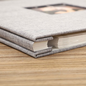 Image 3 - Okładka na pościel Album na zdjęcia samoprzylepna folia klejąca DIY Handmade księga gości pamięć na zdjęcia przyklejony typ szary Home Decor