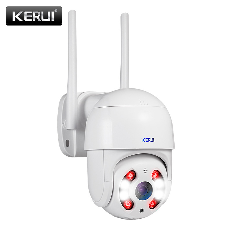 KERUI 1080P WIFI Dome IP Camera Outdoor Waterproof Wireless CCTV Camera Home Security Two-way Talk Night Vision Alarm Camera