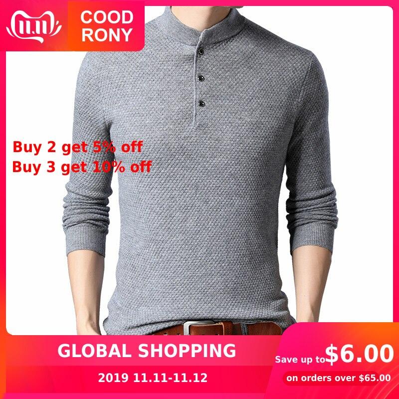 COODRONY Brand Sweater Men Streetwear Fashion Turtleneck Pull Homme Merino Wool Sweaters Winter Warm Cashmere Pullover Men 93013