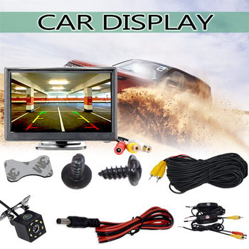 Monitor Video System Wifi Car Rear View Camera Vehicle Car Parking  Display Reversing Recorder Monitor with Rear View Camera Hd yyzsdyjq 7 inch hd 800 x 480 12 24v hd car parking rear view stand mount led monitor screen parking system