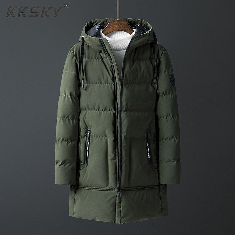 Thick   Parka   Long Jacket Men 2019 Winter Hoody   Parkas   Thick Men's Pocket -20 Degree Warm   Parka   Men Warm Coat M-4xl For Male Coat