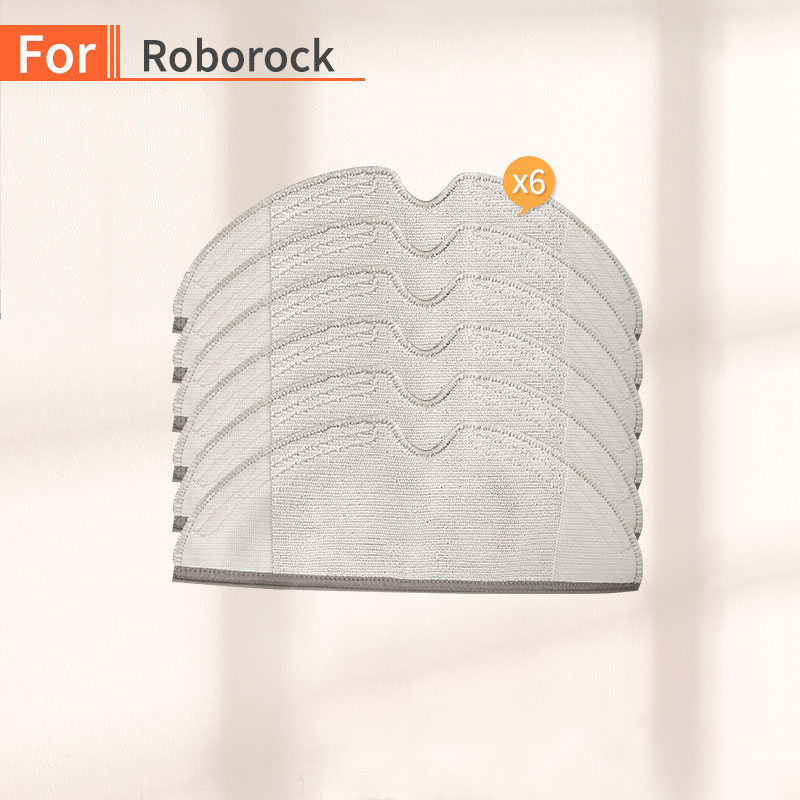 6PCS Vacuum Cleaner Tank Cleaning Cloth Accessories For Millet 1S 2S Roborock S50 S55 S51 Robot Vacuum  Parts