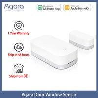 Aqara Smart Mini Sensor de ventana de puerta inalámbrica Zigbee Conexión de sensores inteligentes de puerta trabajo con Mi aplicación para hogares para Android IOS MCCGQ11LM