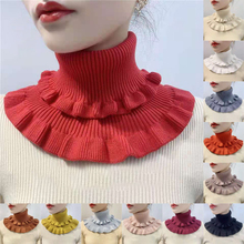 Winter Knitting Scarf Warm Windproof Lace High Collar Elastic Comfort Neck Protection Cover Colorfast No-pilling Practical Gift