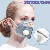 10PCS KN95 Maske 95% Filtration Atmungsaktive ffp3 Maske Anti Staub Ventilen Atemschutzmaske Reusable Für Mit Schutz-in Masken aus Sicherheit und Schutz bei