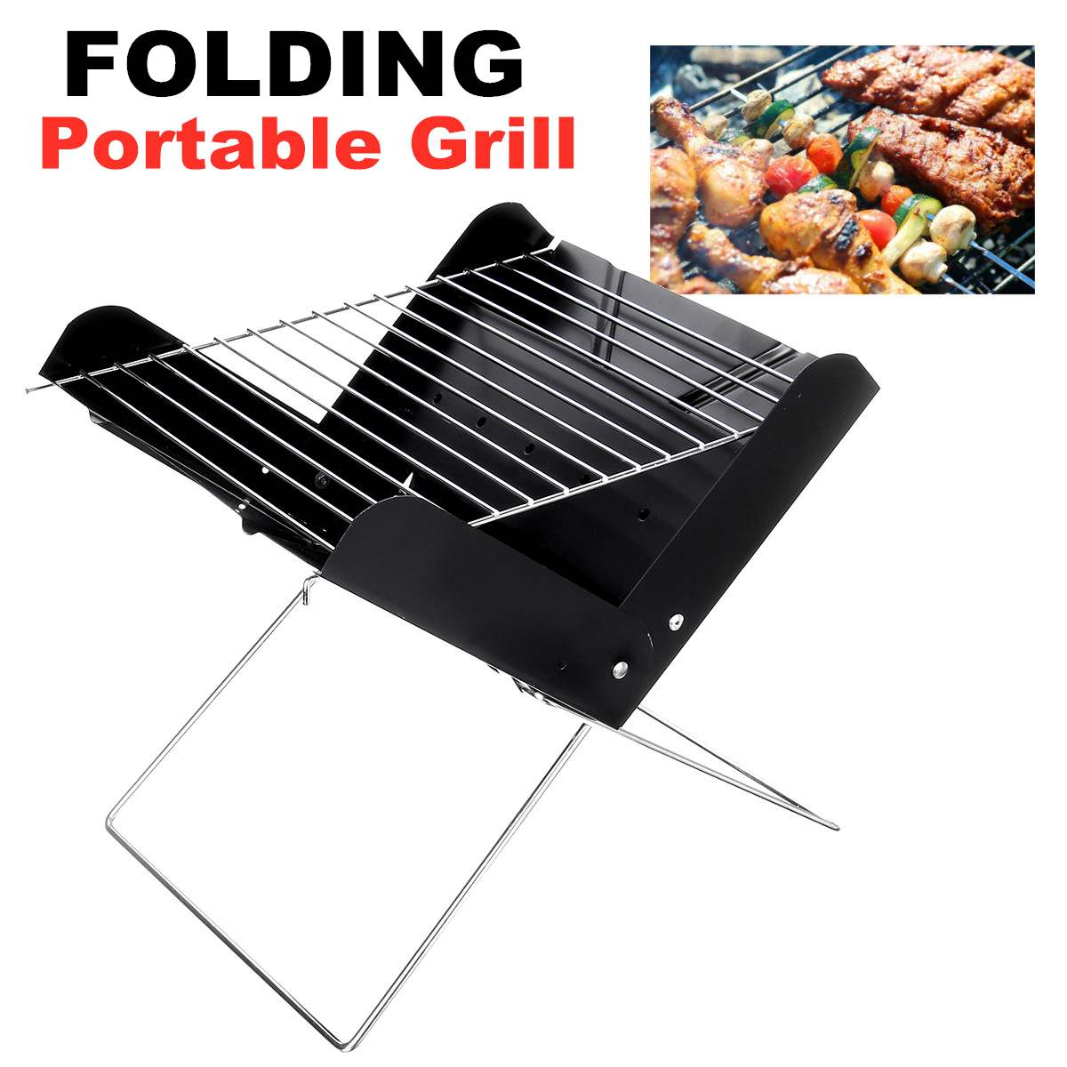 29X26X29cm Folding Barbecue Stove Outdoor Camping Picnic Barbecue Cooking Folding Tool Portable Charcoal BBQ Grill