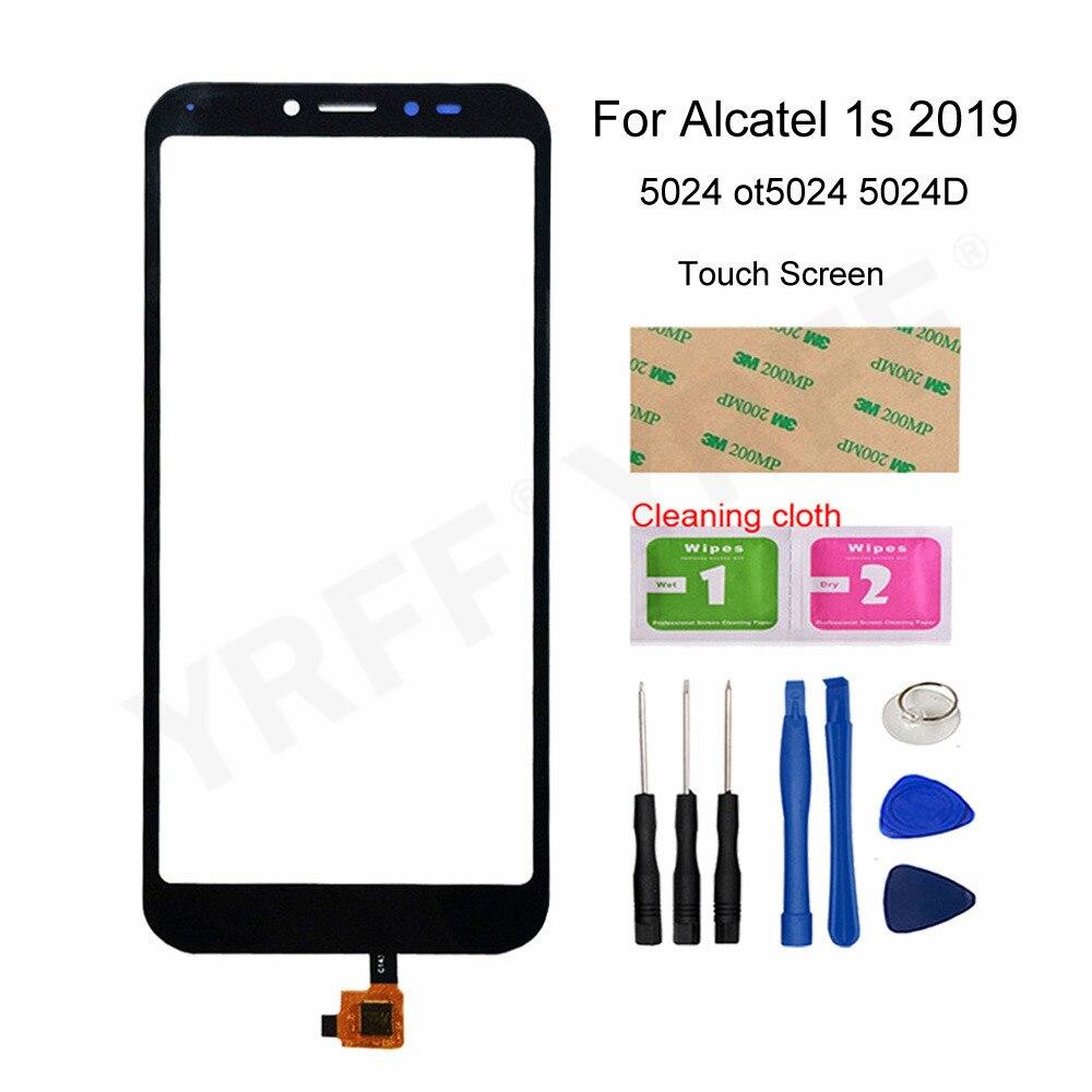 Панель сенсорного экрана для Alcatel 1S 2019 для Alcatel 1s 2019 5024 OT5024 5024D сенсорный экран дигитайзер Датчик Передняя стеклянная панель