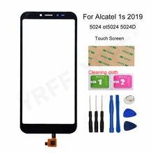 Para alcatel 1s 2019 painel da tela de toque para alcatel 1s 2019 5024 ot5024 5024d digitador da tela toque sensor painel vidro frontal