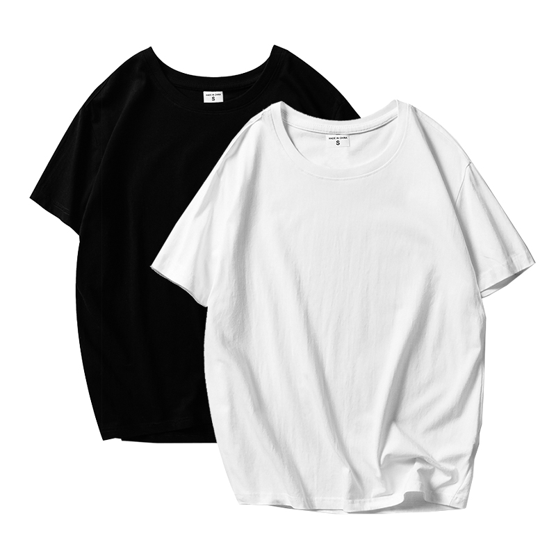 Women T Shirt Black White Tshirts Lady Solid Color Tees Short Sleeve T Shirts Female Summer Tops for Woman White Femme T Shirts