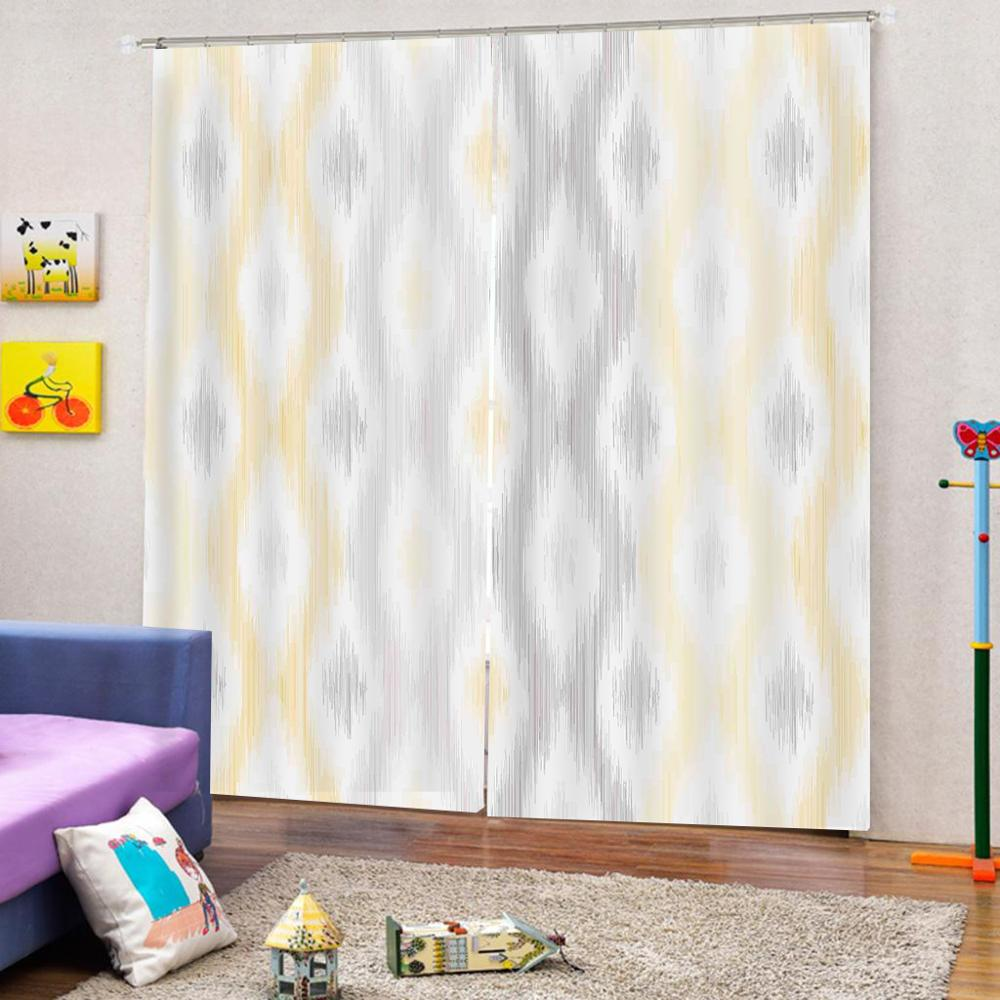 Custom Curtain Decoration 3D Brief Draw simple graphics Curtains For Bedroom Living room Polyester Room Curtain