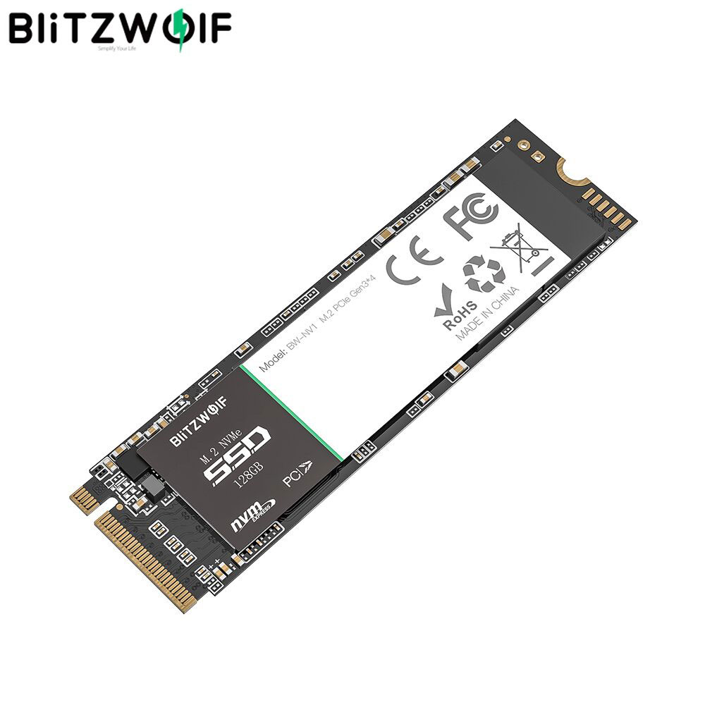 BlitzWolf PCIe Gen3*4 NVMe1.3 SSD 128GB 256GB 512GB Internal Hard Drive M.2-2280 M-Key Solid State Drive for Laptop for Macbook