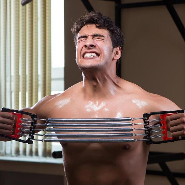 Spring Chest Developer Expander Men Fitness Tension Puller Fitness Equipment 4