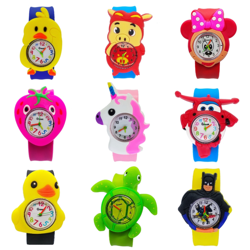 Wholesale 2019 New Children's Clock Student Children Boys Girls Kids Watches Women Silicone Quartz Child Watch Relogio Masculino