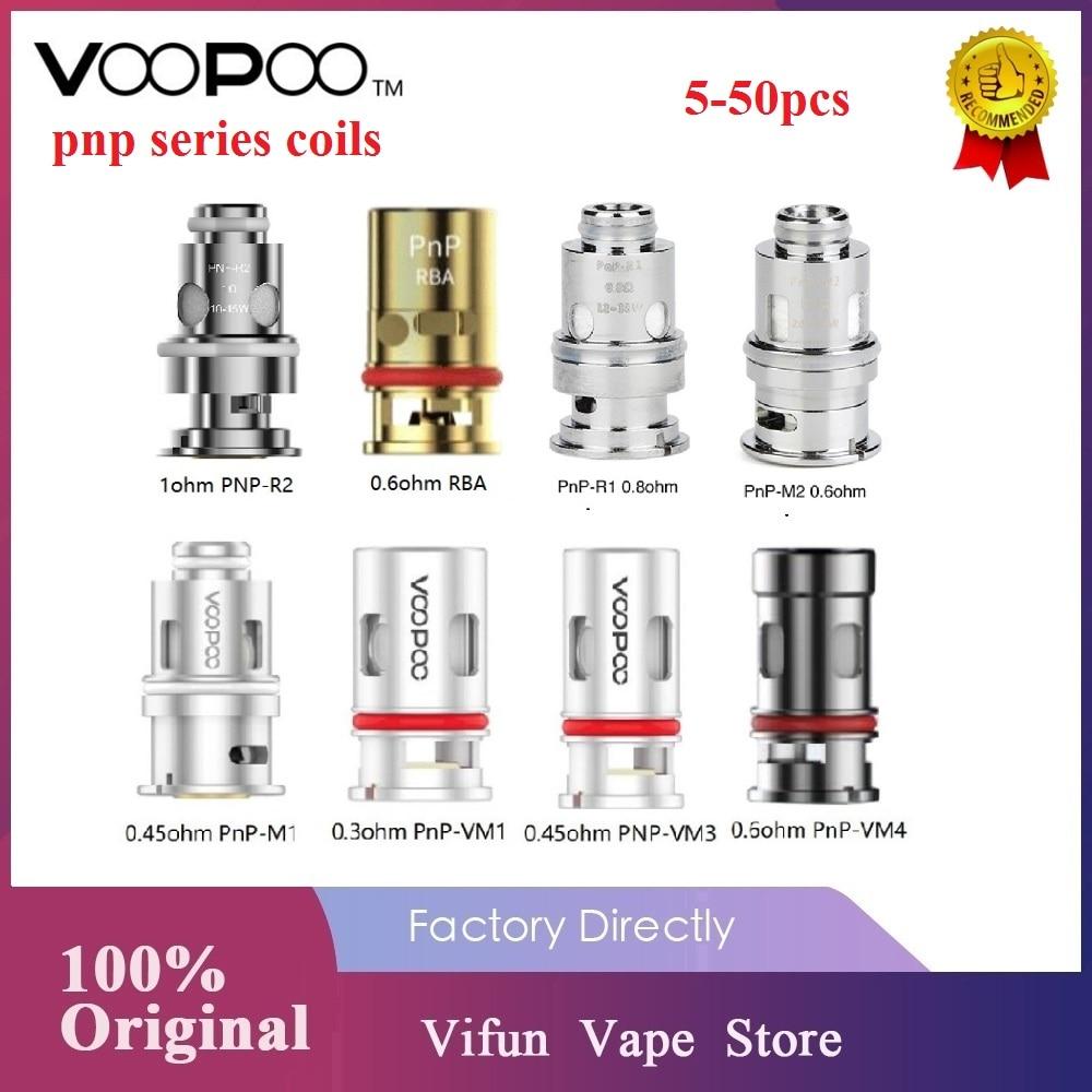 New VOOPOO PnP Coils 0.3ohm / 0.8 Ohm Mesh Coil /0.6ohm RBA Coil For VOOPOO VINCI R/ Vinci X / VINCI Mod Pod Kit E-Cig Vape Coil