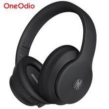 Oneodio, fones de ouvido antirruído, fones de ouvido sem fio A40, cancelamento de ruído ativo, fone de ouvido bluetooth V5.0, headset ANC com microfone para telefone sobre a orelha