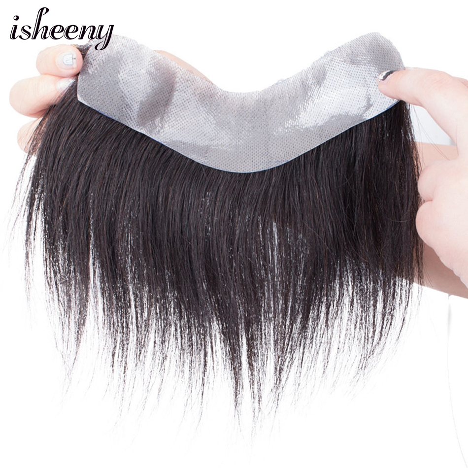 Peluca de cabello humano 100% para hombre, tupé frontal estilo V, cabello Remy corto de 6