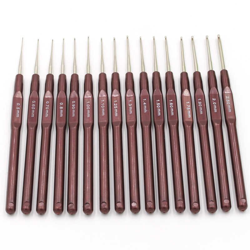 QJH 16 шт пластиковые ручки крючком Крючки Ручка Вязания набор иголок крошка и вязание s 0,5 мм-2,7 мм 16 размер