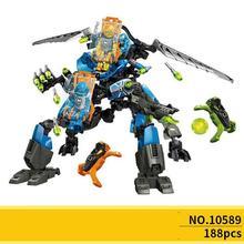 10589 factory 6 surge & rocka 2 in 1 combat machine building block Toys
