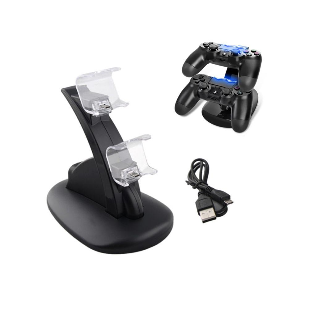 USB Dual Gamepad Charger Dock Controller Game Controller Power Supply Charging Station Stand For Sony Playstation 4 PS4/ PS4 Pro