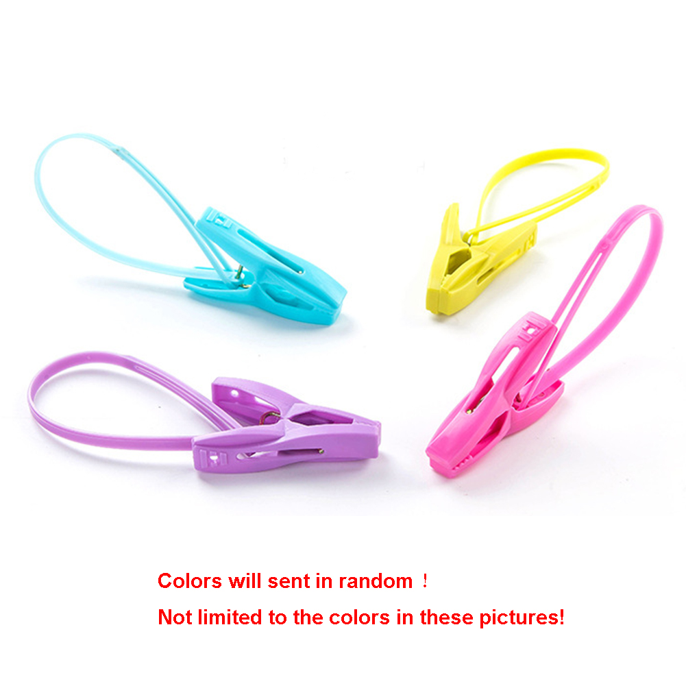 12PCS/Set PP Plastic Clothes Pegs Home Travel Portable Hangers Rack Towel Clothespin Windproof Clothes Clips
