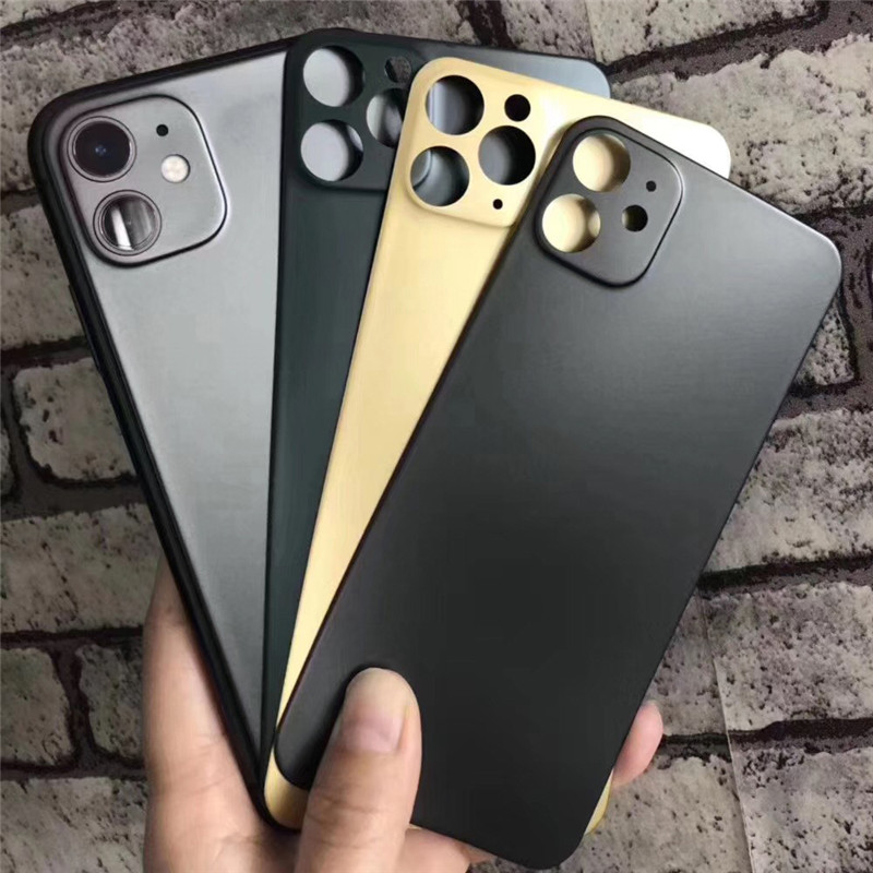 2pcs/lot 3D Full Cover Curved Matte Back Cover With Camera Lens Soft Film For IPhone11 Pro MAX Rear Screen Protector