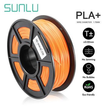 SUNLU PLA Filament 1KG 1 75mm PLA PLUS 3D drukuj żarnik długopis 1 75mm plastikowe PLA Plus wytłaczarka żarnik dla majsterkowiczów tanie i dobre opinie CN (pochodzenie) solid 343 metry PLA+ Filament + -0 02MM Low shrinkage eco-friendly bright color high strength 205-230 ℃