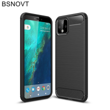 For Google Pixel 4 Case Soft TPU Silicone Dirt-resistant  Bumper Cover Funda BSNOVT