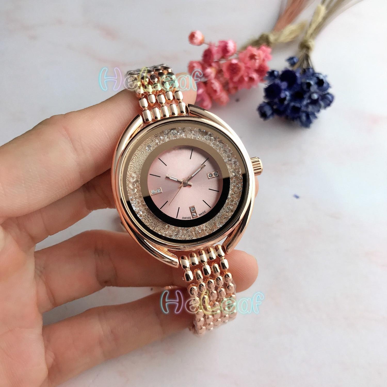 Luxury Fashion Swan Women Watches Silver Gold Round Stainless Steel Band Quartz Watch Female Girls Clock MontreFemme Reloj