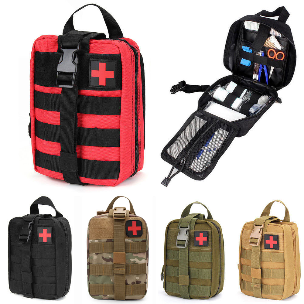 Outdoor Tactical Waist Bag Military EMT Molle Pack 600D Waterproof First Aid Kit Medical Bag Camping Hunting Accessories Pockets