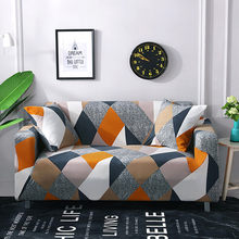 1/2/3/4 Seater Printed Elastic Sofa Covers Stretch Plaid Sofa Slipcover For Living Room Sofa Chair Couch Cover Home Decor Covers
