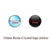 5 шт./лот, 12 мм диаметр, Автомобильный ключ, логотип, эпоксидная смола, кристалл, брелок, Автомобильный ключ, эмблема