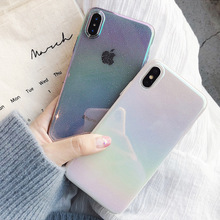 VZD Reflective Phone Case For iPhone 6 6S 7 7Plus 8 8Plus X XS Max Cute Colorful TUB Cover Coque