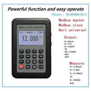 Image 2 - TZT LB06 Multifunction Process Calibrator 0 24mA 0 11V/ mV Signal Generator Hart Modbus Function