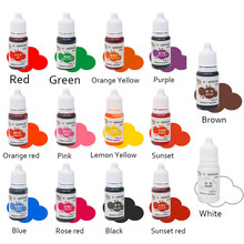 14 cores/conjunto comestível pigmento 10ml bolo de sorvete ingredientes de coloração de alimentos bolo fondant cozimento bolo comestível cor pigmento ferramentas