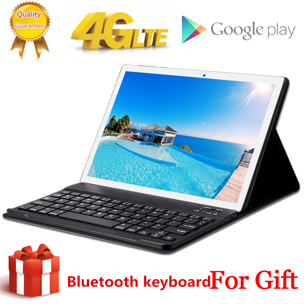 Free Gift Bluetooth Keyboard 1920X1200 4G LTE 10.1 Inch 2.5D Tablet Pc 10 Deca Core MTK6797 8GB RAM 128GB ROM Android 8.0 MT6797