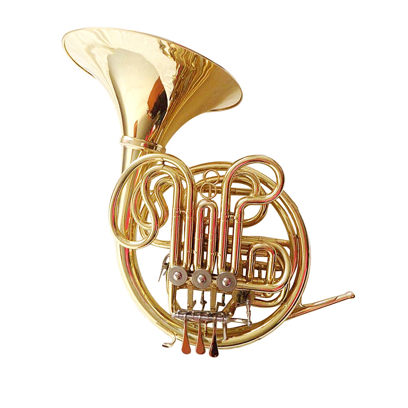 F/Bb Double French Horn with Case Mouthpiece Three valves Divided Bell horn Musical instruments