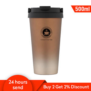 500ml Coffee Thermos Cup Stainless Steel Thermos Mug Vacuum Flask Coffee Cups Travel Mug Flask Hydro Water Bottle 6 Colors