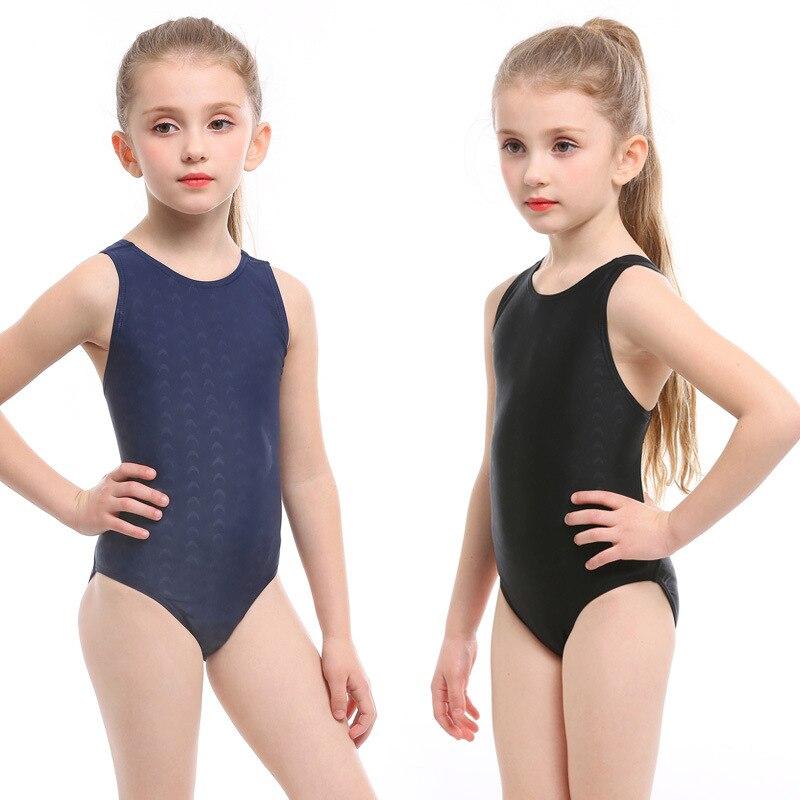KID'S Swimwear GIRL'S Baby Cute One-piece Swimwear Big Virgin Girls Triangular One-piece Swimming Suit Swimming Training