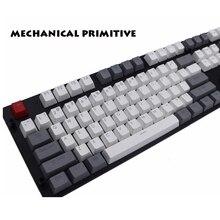 MP Cherry MX switch 108/87 клавиш PBT Keycap с подсветкой двойная съемка белая и серая Ретро клавиатура для механической игровой клавиатуры