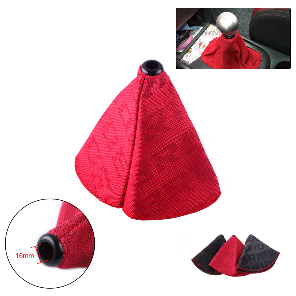 Universal JDM Style Bride Canvas Shift Lever Knob Boot Cover Car Racing Shift Knob Collars RS SFN059 in Gear Shift Collars from Automobiles Motorcycles
