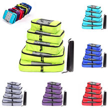 Foldable Duffle Bag Women Waterproof Nylon Packing Cubes Travel Luggage Organizer Double Zip Hand Luggage Men Women Travel Bag
