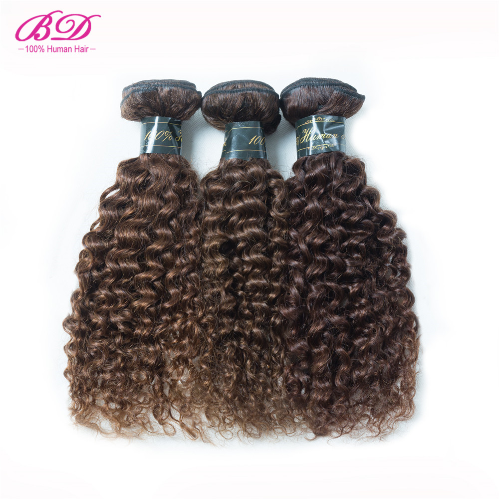 BD Hair Kinky Curly Virgin Hair Yellow Human Hair Weave Bundles 3pcs/lot Peruvian Virgin Hair 12-26 Inches Bundles Deal