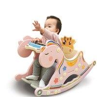 Baby rocking chair music trojan rocking horse toy children's horse shaking gift rocking chair children furniture